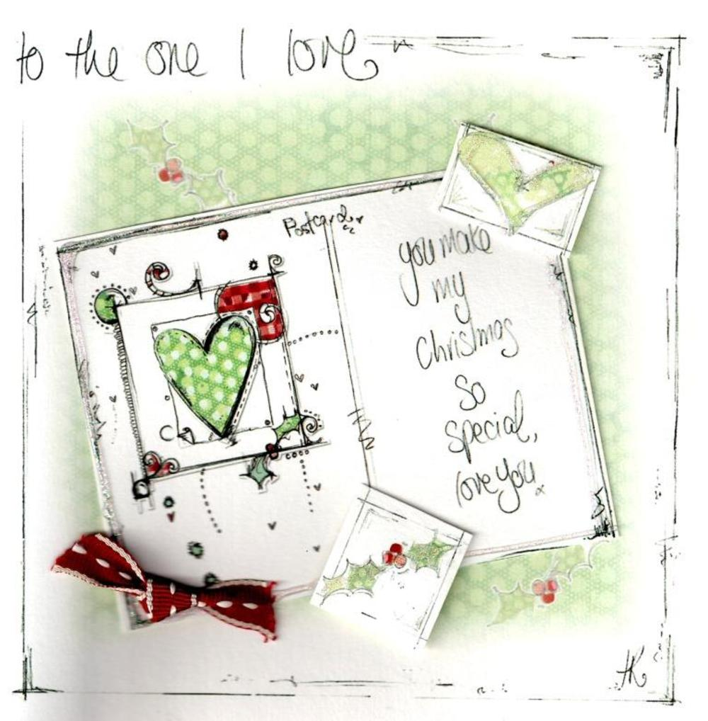 One I Love Christmas Card Luxury Tracey Russell Card