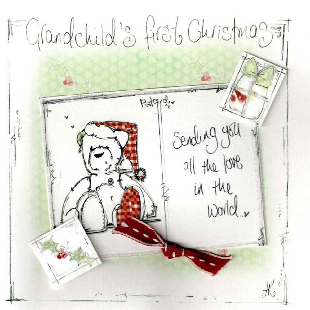 Grandchilds First Christmas Card Luxury Tracey Russell Cards