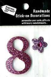 Number 8 Diy Card Topper Pink