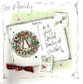 Son & Family Christmas Card Luxury Tracey Russell Cards