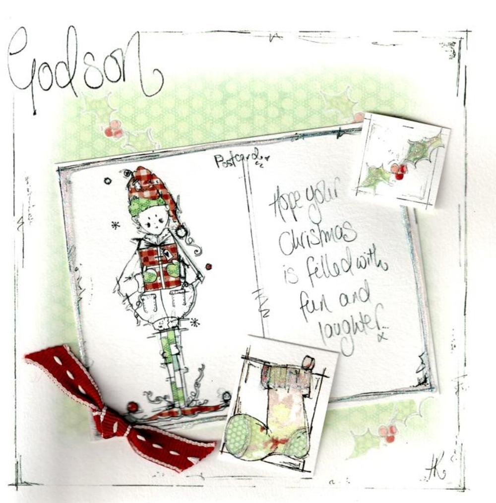 Godson Christmas Card Luxury Tracey Russell Cards