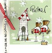 Partner Christmas Card Luxury Tracey Russell Cards