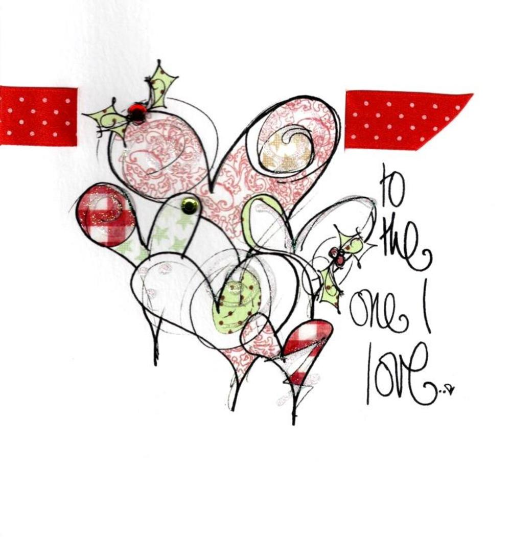 One I Love Christmas Card Luxury Tracey Russell Cards