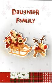 Boofle Daughter & Family Christmas Card