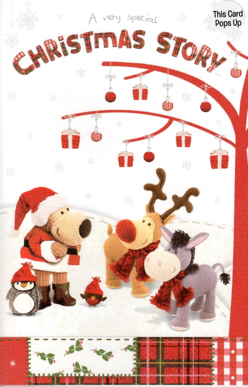 Boofle Pop-Up Christmas Story Card