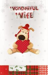 Boofle Luxury Christmas Card Wife