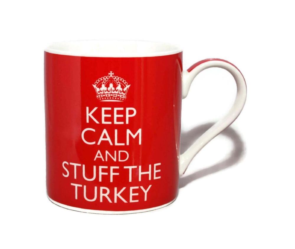 Keep Calm & Stuff the Turkey Fine China Mug in Gift Box