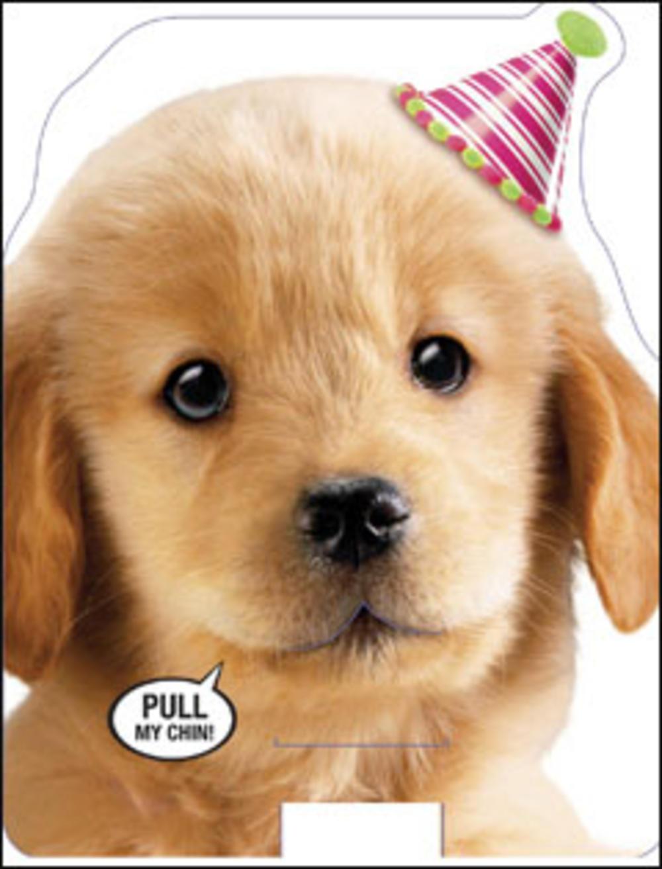 Cute Puppy Barking Happy Sound Birthday Card Cards