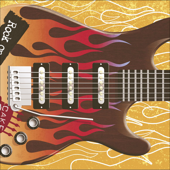 Pull Out Rock Guitar Sound Birthday Card