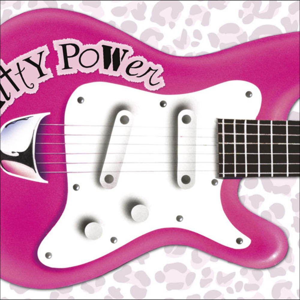 Pull Out Pink Guitar Sound Birthday Card