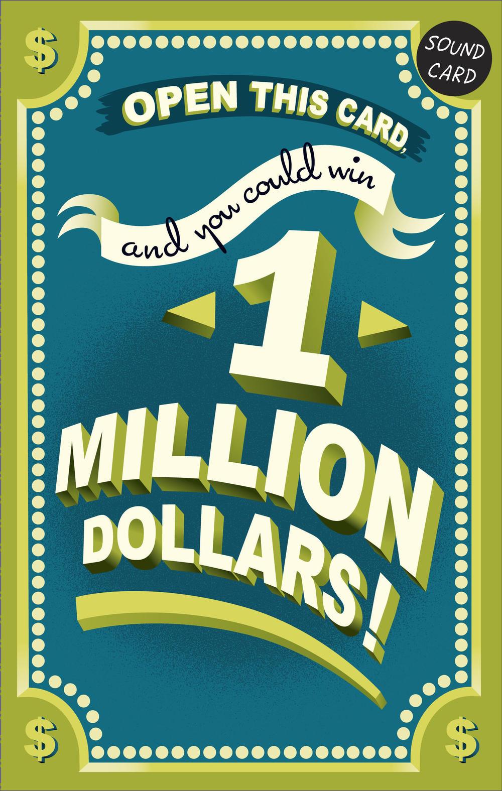 Funny One Million Dollar Sound Birthday Card