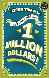 Funny One Million Dollar Sound Birthday Card