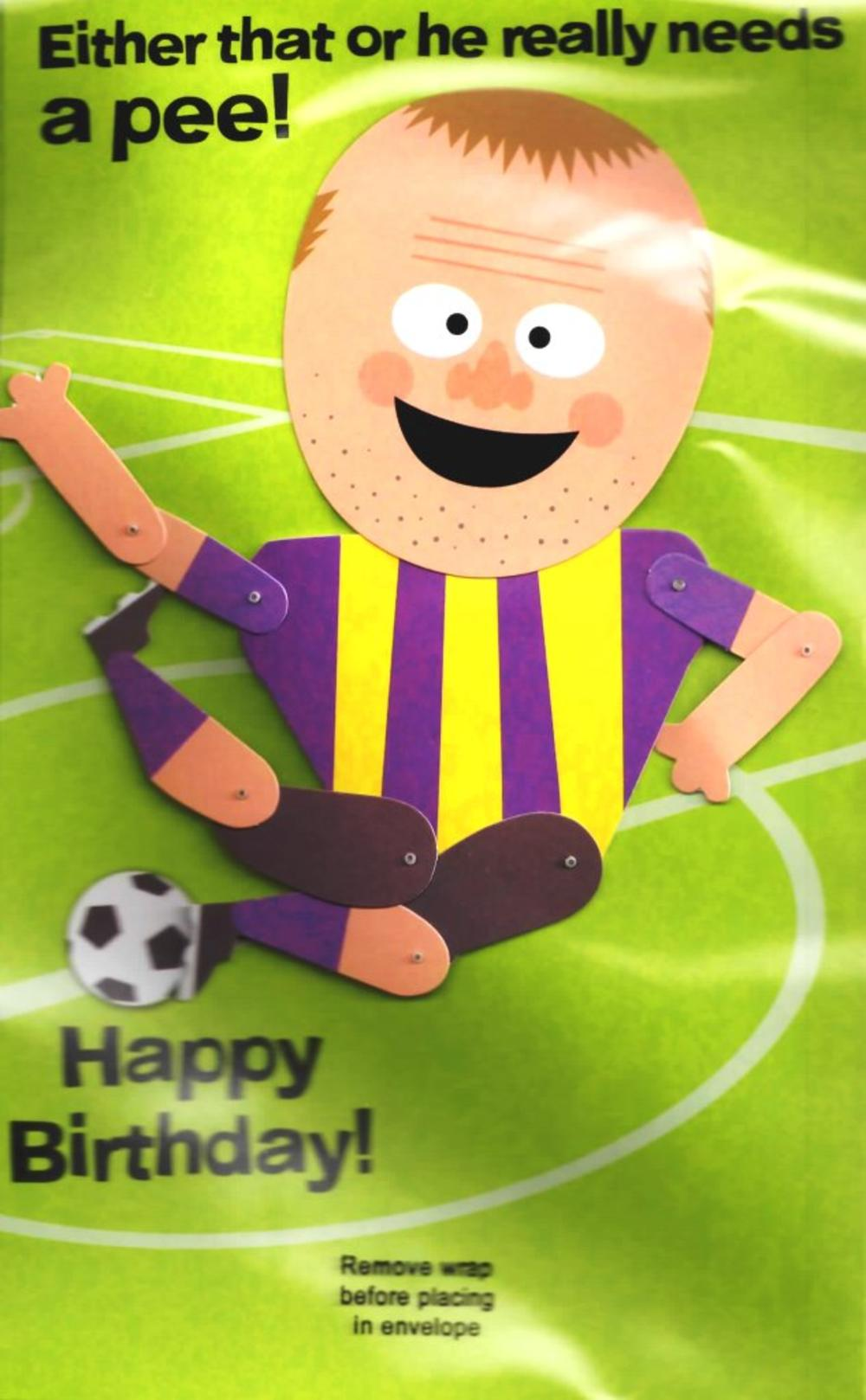 Funny Rooney Football Sound Birthday Card   Cards   Love Kates