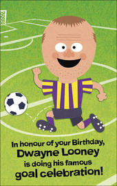 Funny Rooney Football Sound Birthday Card