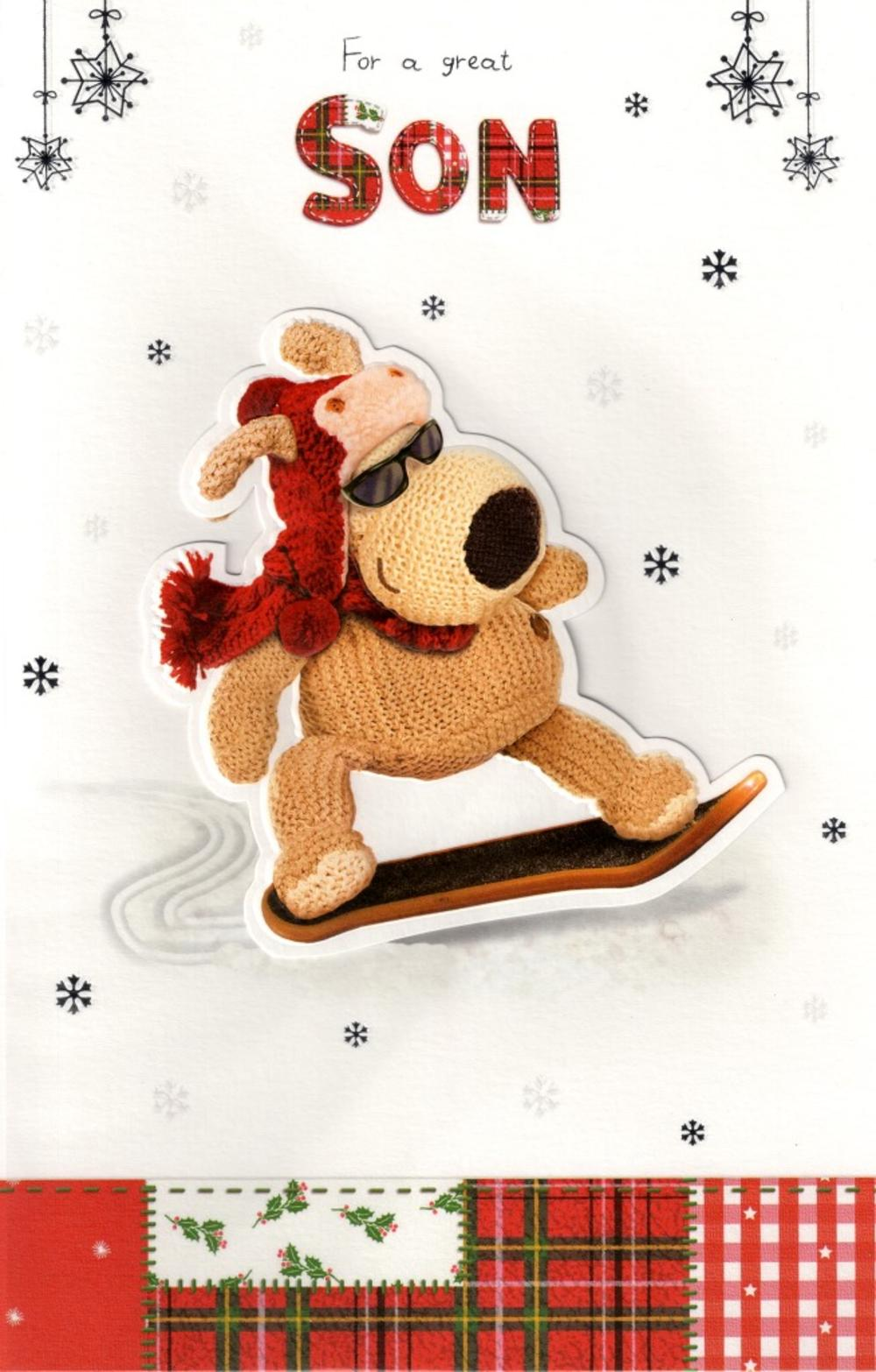 Boofle Son Christmas Card