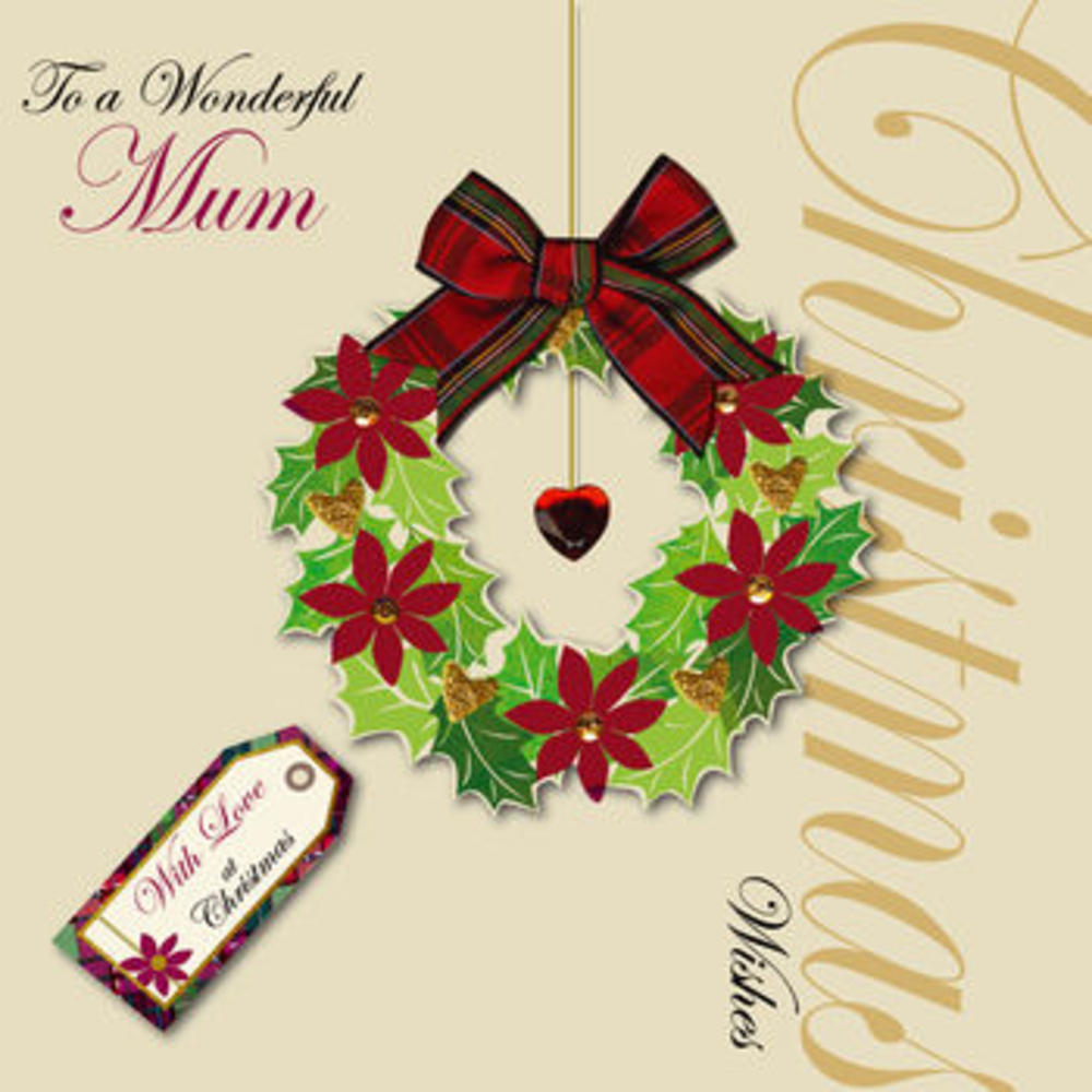Wonderful Mum at Christmas Card