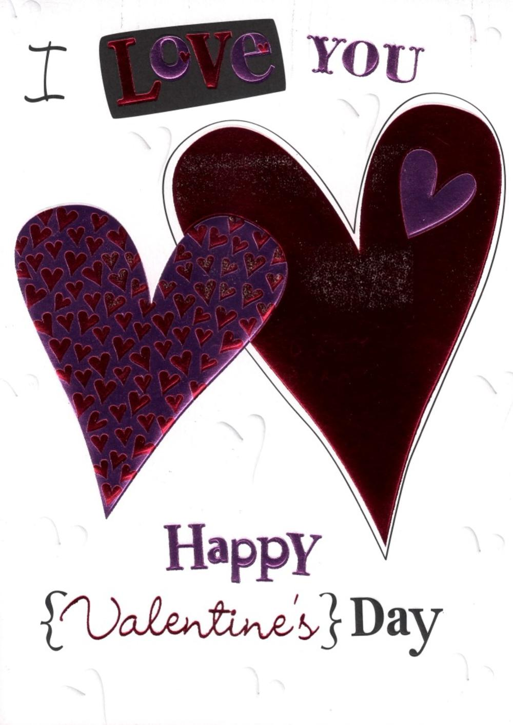 I Love You With All My Heart  Valentine's Card