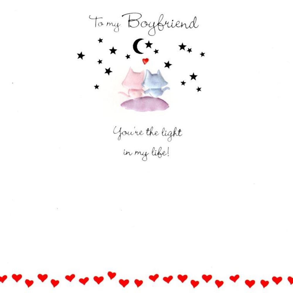 To My Boyfriend Light Of My Life Valentines Card