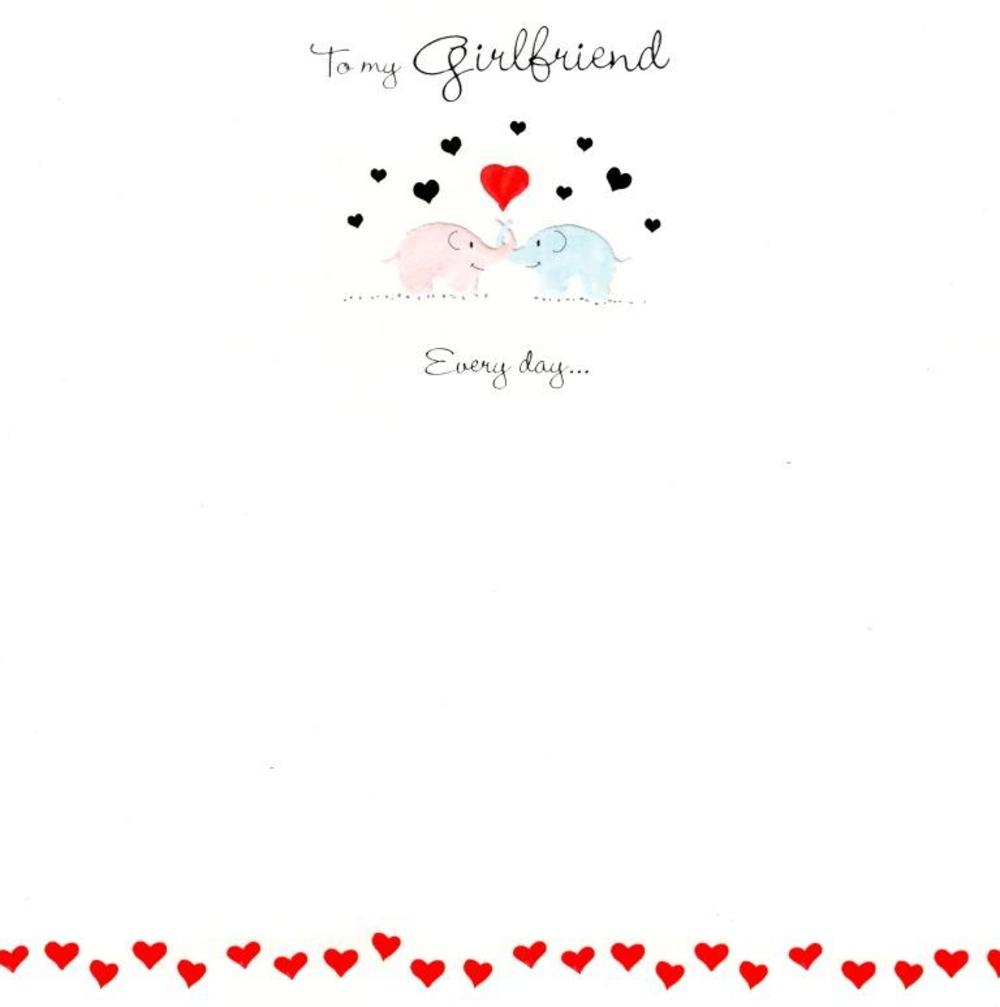 To My Girlfriend Love You More Valentines Card