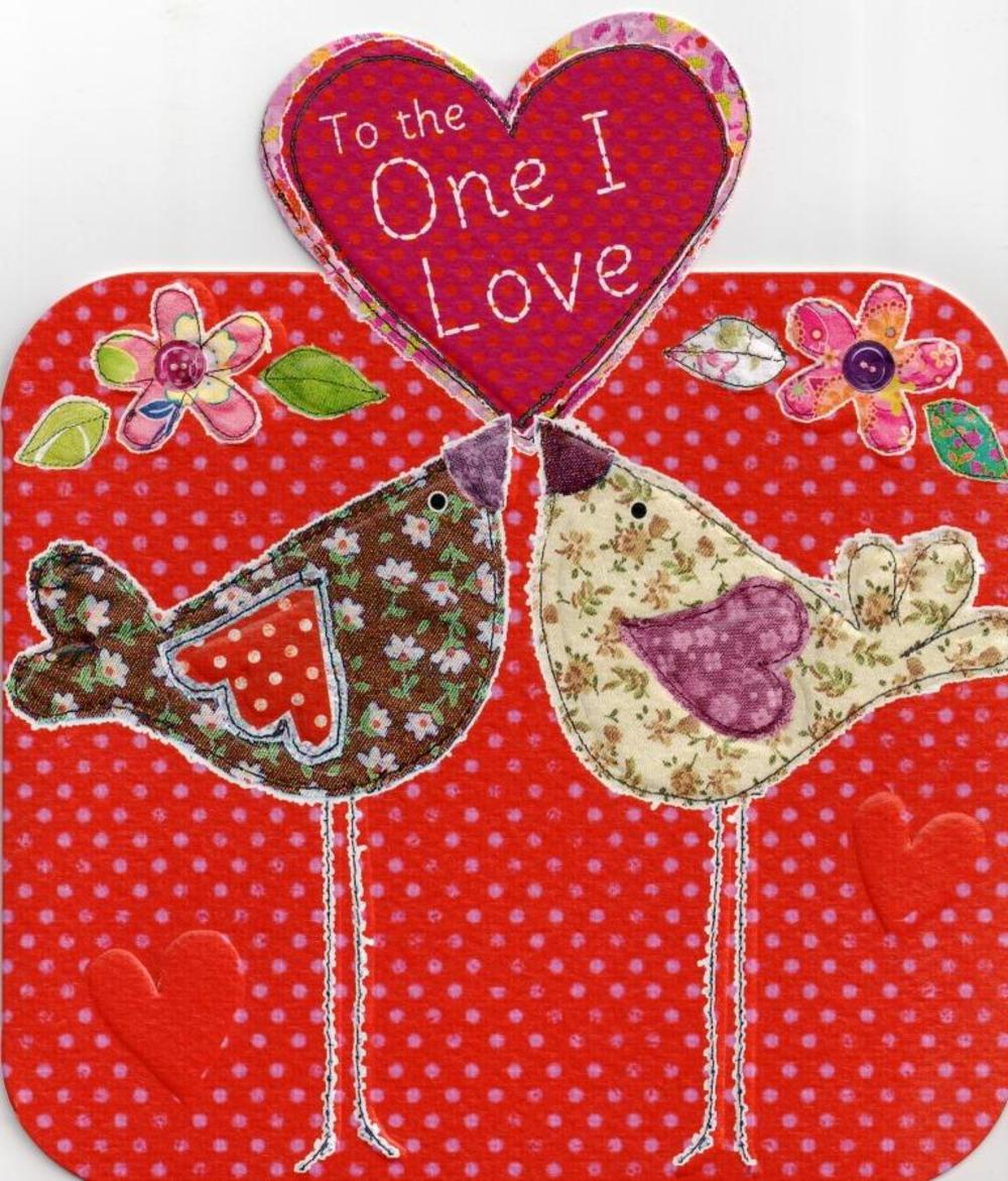 To The One I Love Cute Birds Valentine's Day Card
