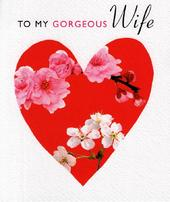 To My Gorgeous Wife Valentines Card