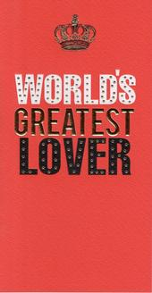 World's Greatest Lover Valentines Card