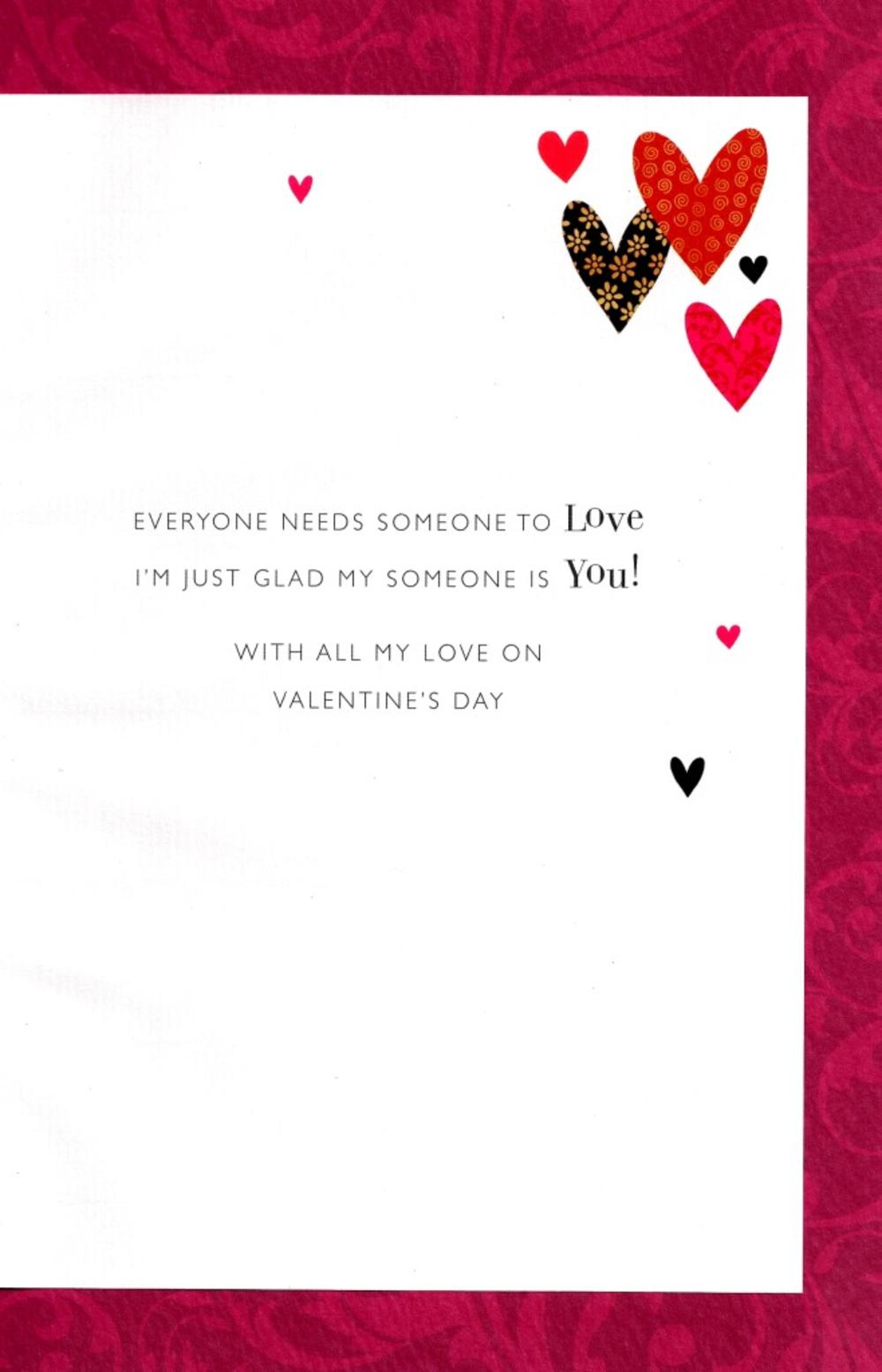 For The One I Love Lovely Valentines Card Cards – Lovely Valentine Cards