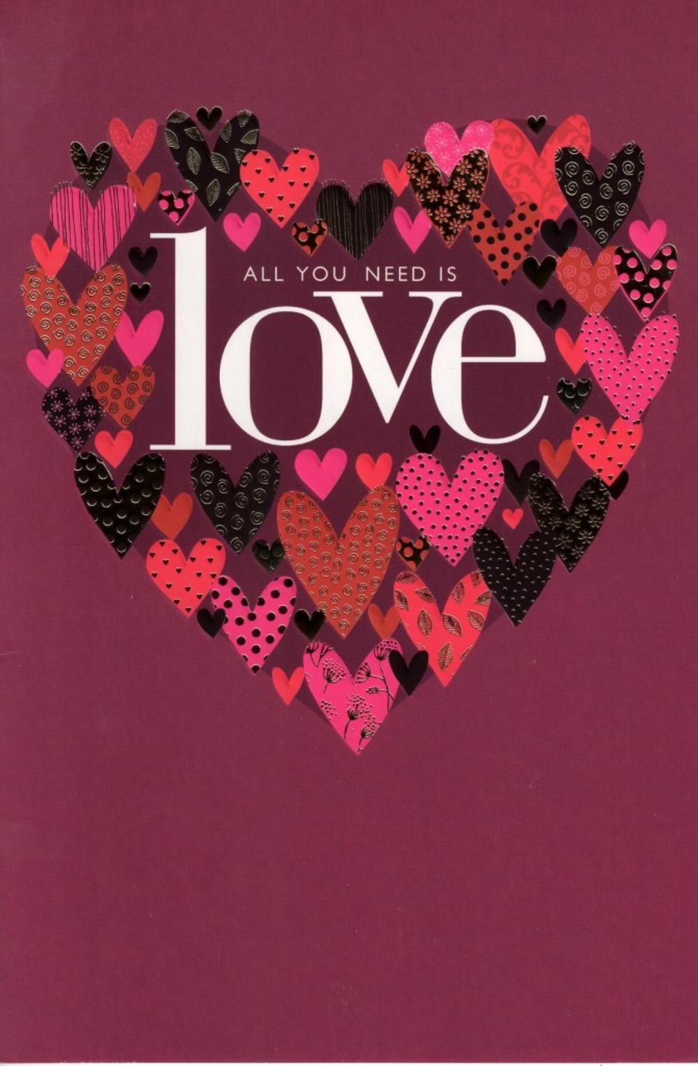 All You Need Is Love Valentines Card