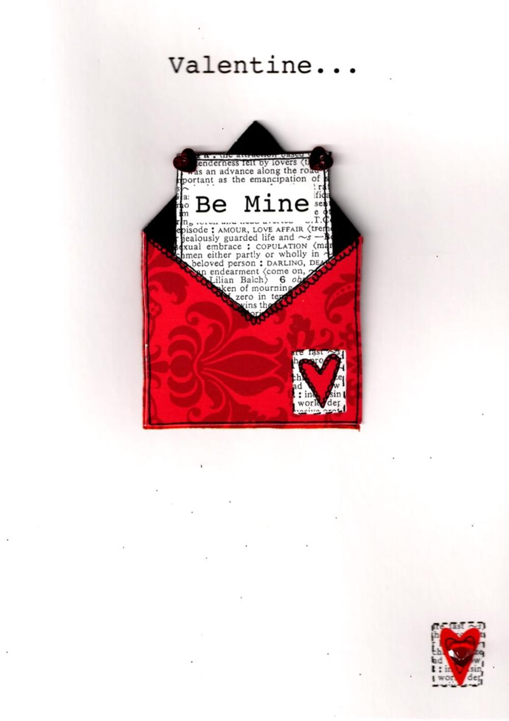 Valentine Be Mine Hand-Finished 3D Valentines Card