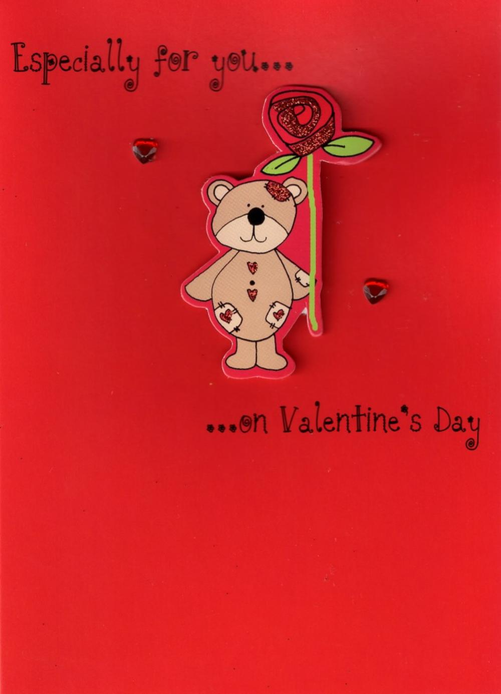 Especially for You Cute Hand-Finished Valentines Card