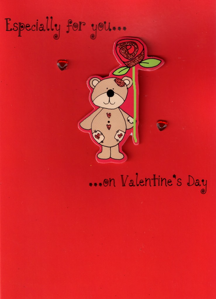 Especially For You Cute Hand Finished Valentines Card