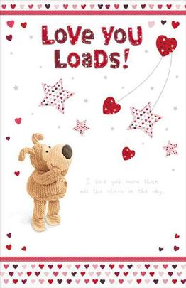 Boofle Love You More Than Stars Valentine's Day Card