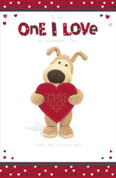 Boofle To The One I Love Valentine's Day Card