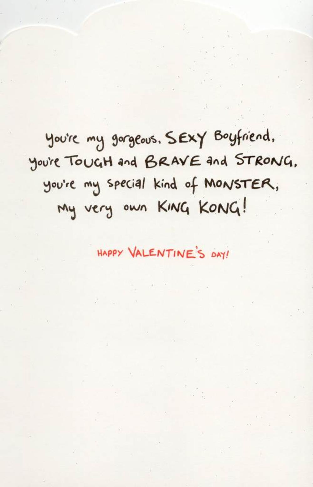 Sexy Boyfriend Love Monster Valentines Day Card | Cards | Love Kates