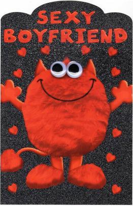 Sexy Boyfriend Love Monster Valentines Day Card