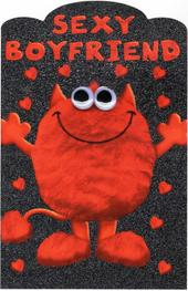 Sexy Boyfriend Love Monster Valentines Day Card
