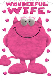 Wonderful Wife Love Monster Valentines Day Card