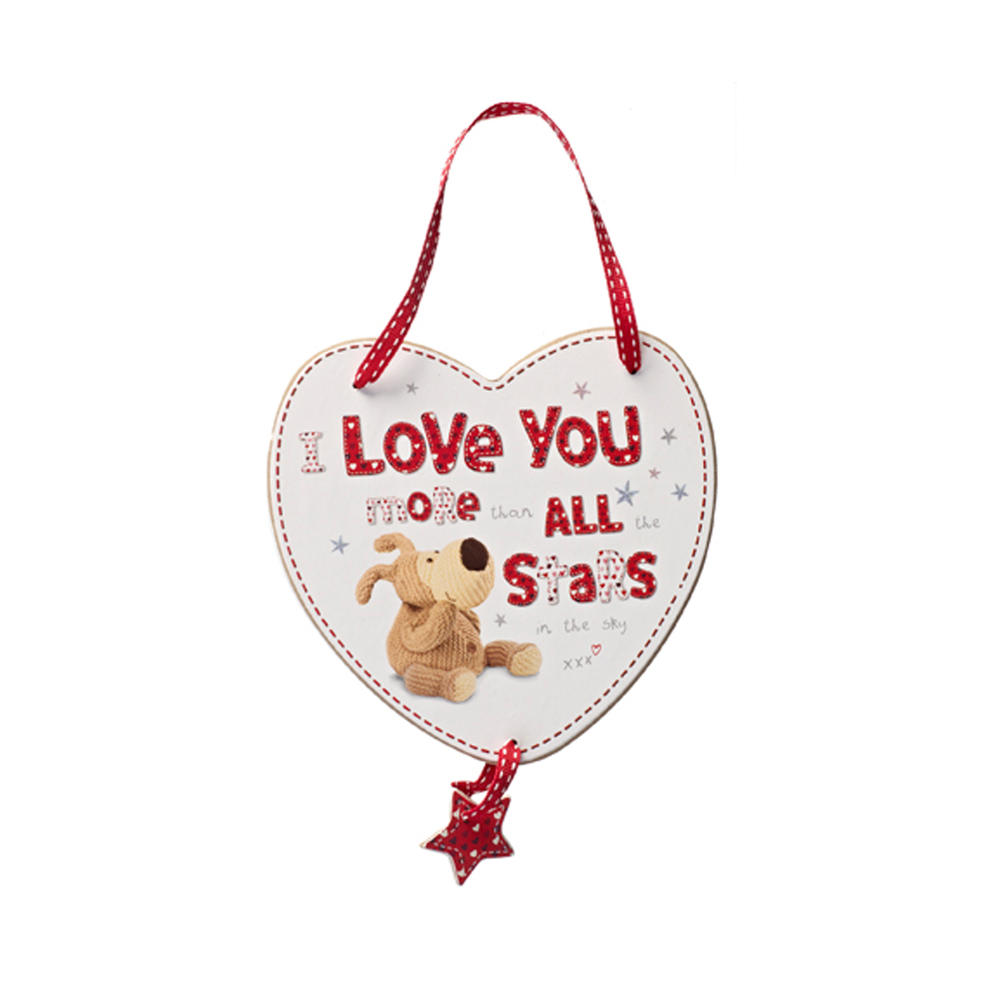 Boofle Love You More Than All The Stars Wooden Plaque