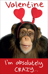 Chimp Wobbly Eyes Valentine's Day Card
