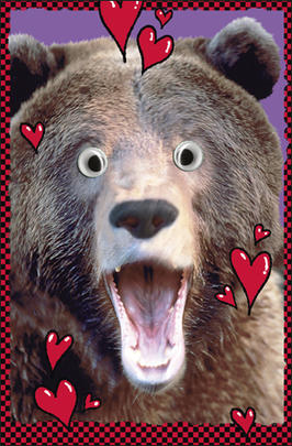 Bear Wobby Eyes Valentine's Day Card