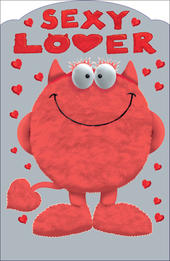 Sexy Lover Love Monster Valentine's Day Card