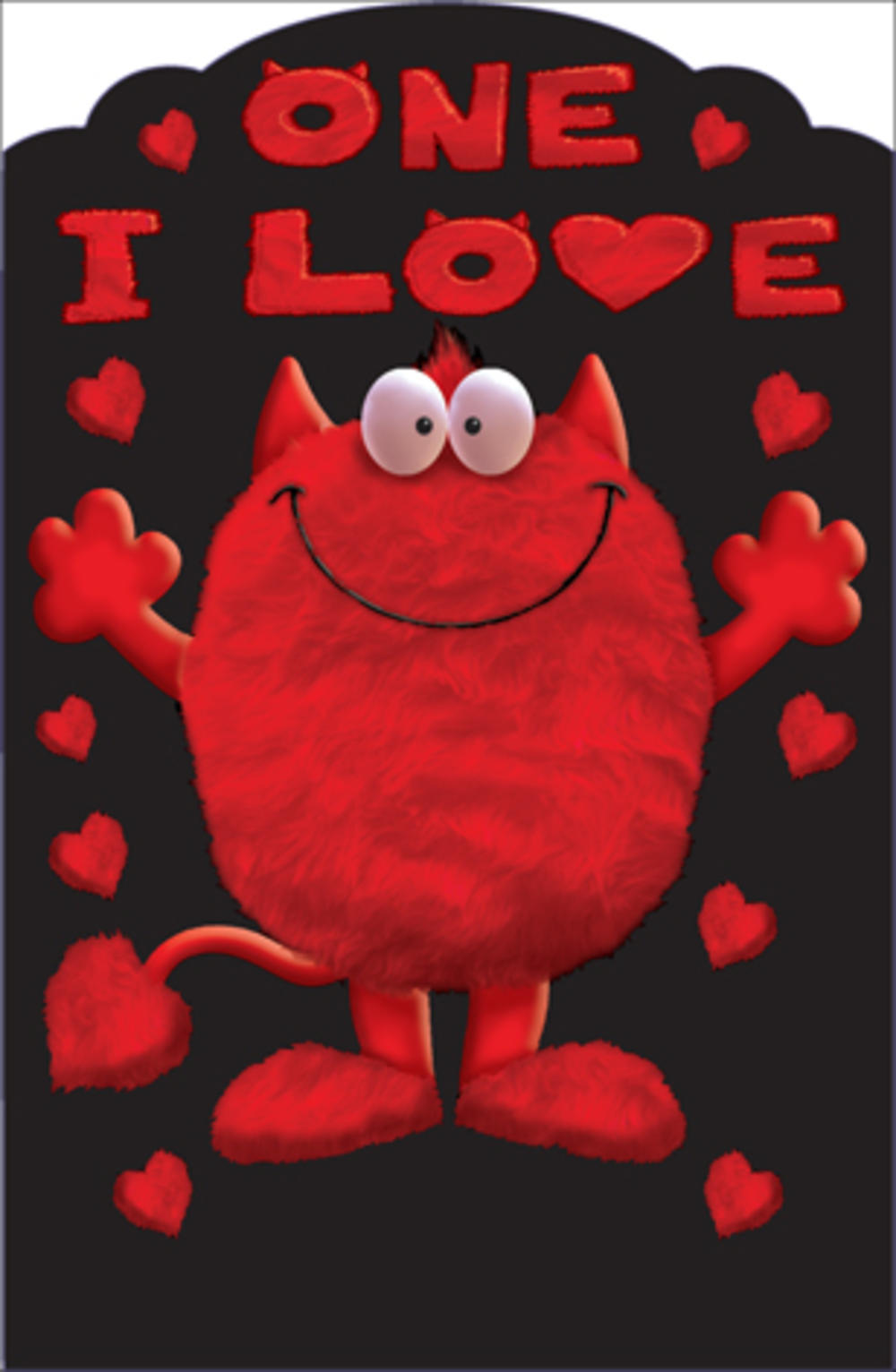 One I Love Monster Valentine's Day Card