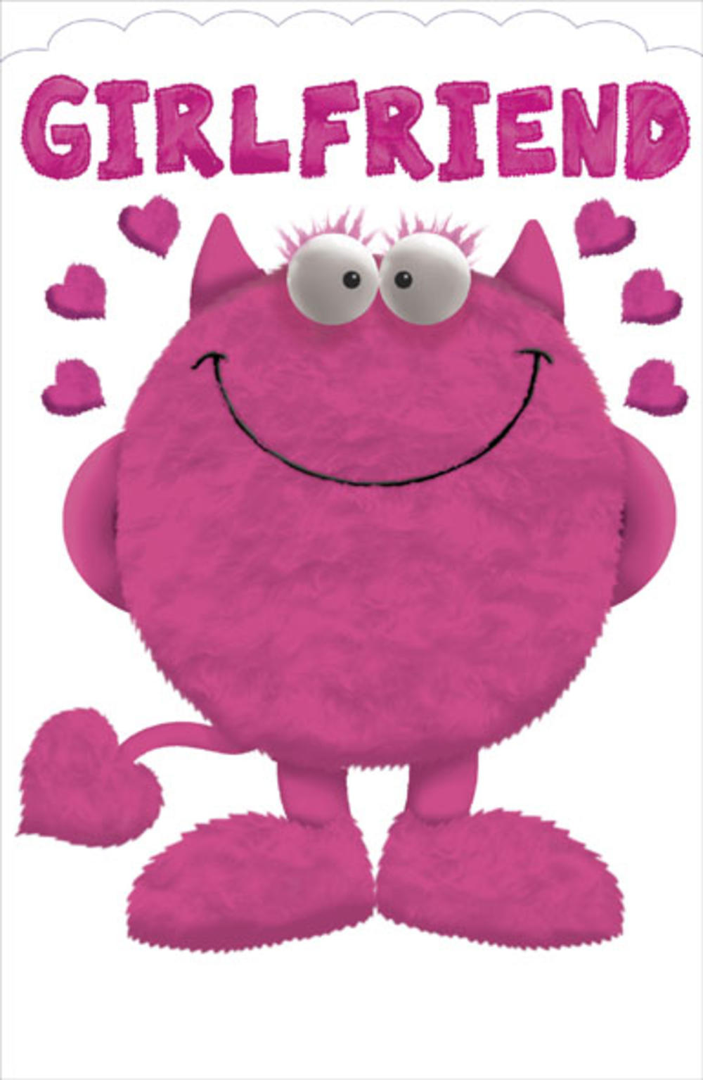 Girlfriend Love Monster Valentine's Day Card
