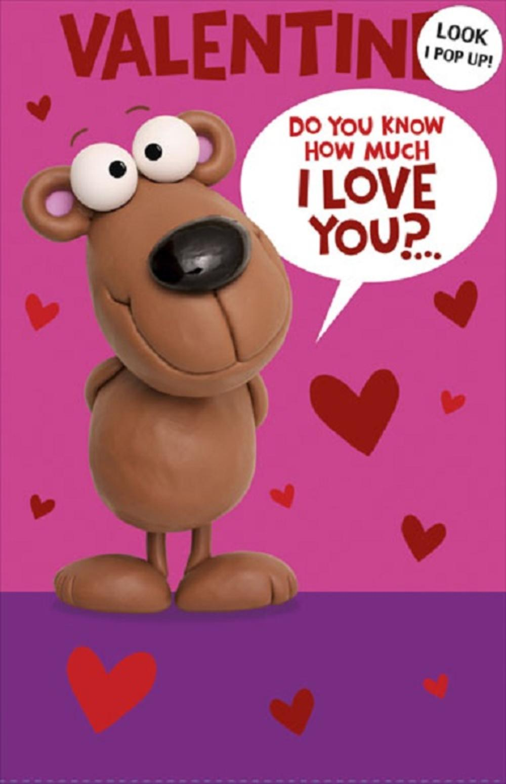 Cute Pop Out Valentine's Day Card