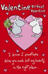 Perfect Valentine Cute Card With Badge Valentine's Day Card