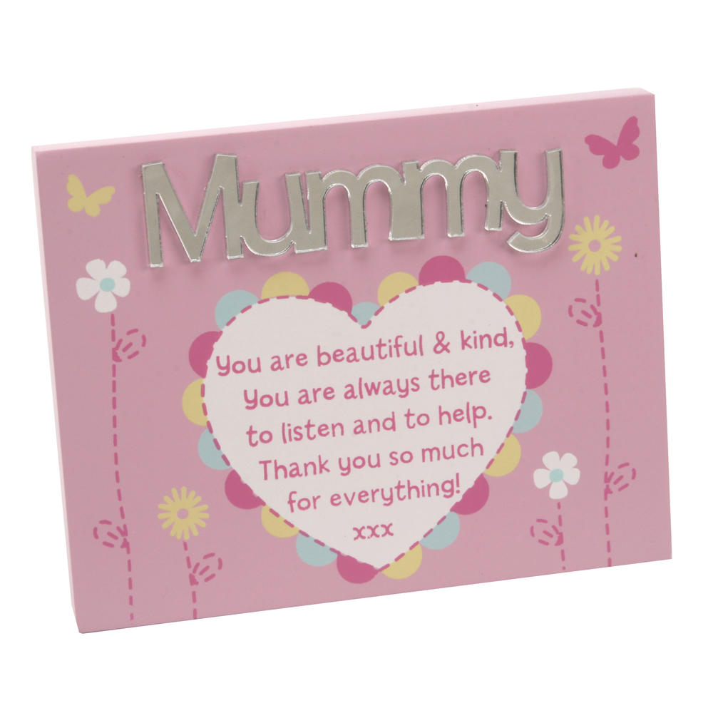 Mummy Plaque Lovely Mirror Words & Verse