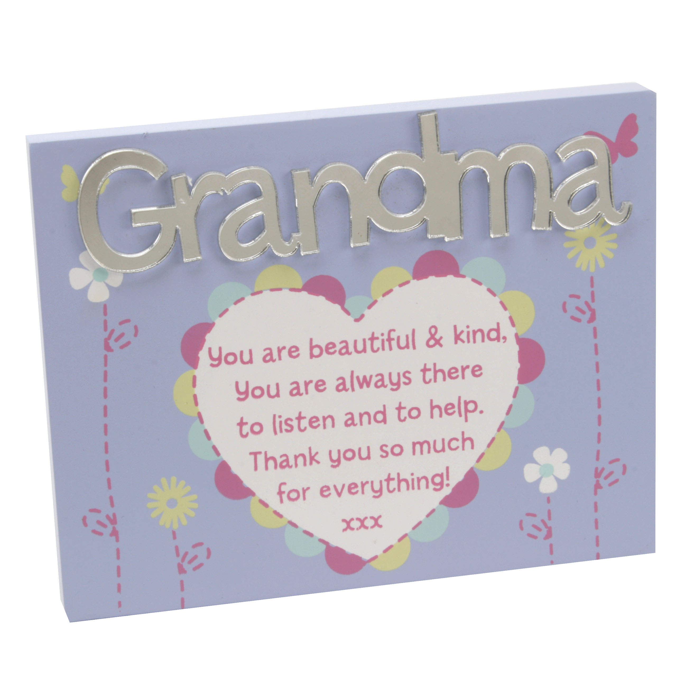 Grandma Plaque Lovely Mirror Words Verse Grandma Love Kates