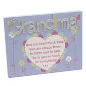 Grandma Plaque Lovely Mirror Words & Verse