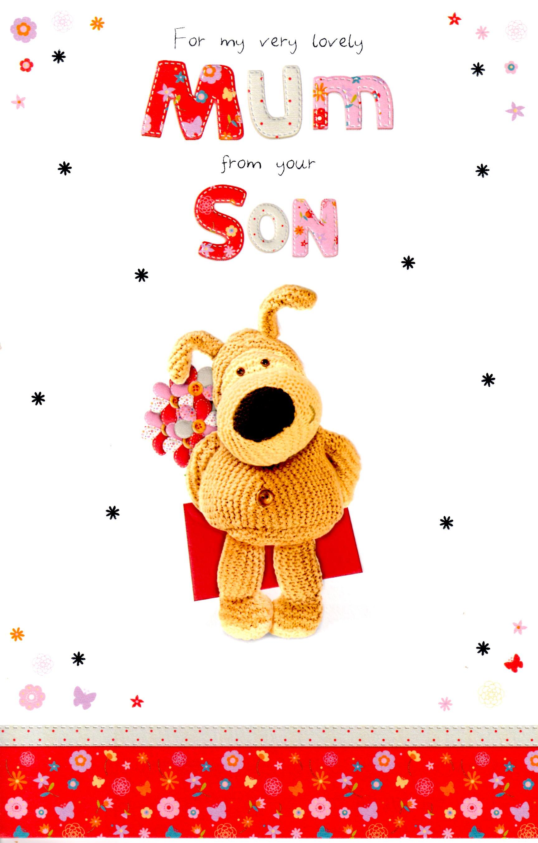 Sentinel Boofle To Mum From Your Son Mothers Day Card Lovely Greeting Cards New