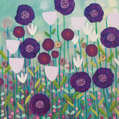 Purple Haze Square Blank Greeting Card by Artist Jo Grundy